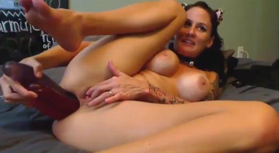 JennyCouture Huge Dildo Sex Machine Anal Fucking Show 3